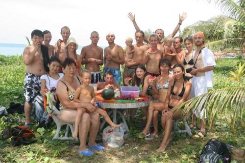Susitikimo dalyviai Koh Ma, Ko Phangan, Tailande