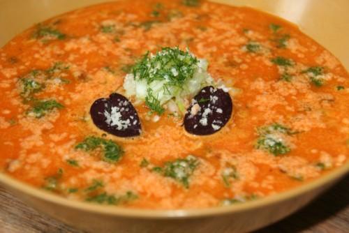 Oranžinė sriubikė su pikantišku skoniu