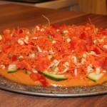 Raw pica su daržovėmis