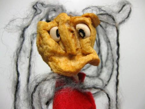 Lėlė obuolio galva